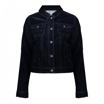 Geisha jeansjacket flock denim dark blue