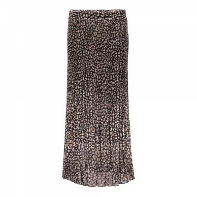 Geisha, skirt plisee leopard