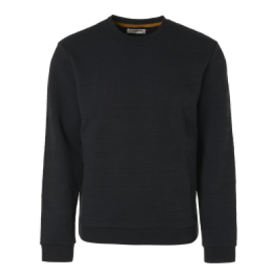No Excess sweater, r-nec, double layer black