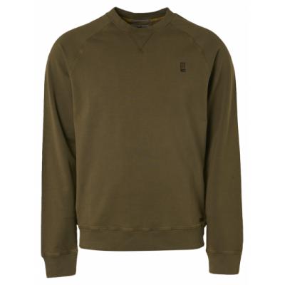 No Excess sweater, r-neck, raglan moss