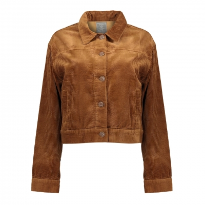 Geisha jacket ribcord with buttons camel