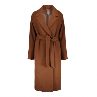Geisha long coat wool camel RECYCLED