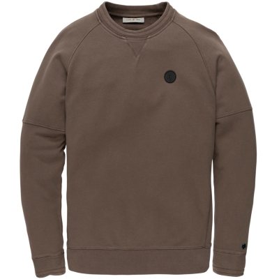 Cast Iron r-neck garment dyed terry jersey major brown