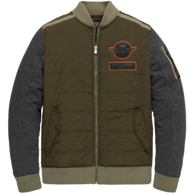 PME Legend zip jacket track sweat dusky green