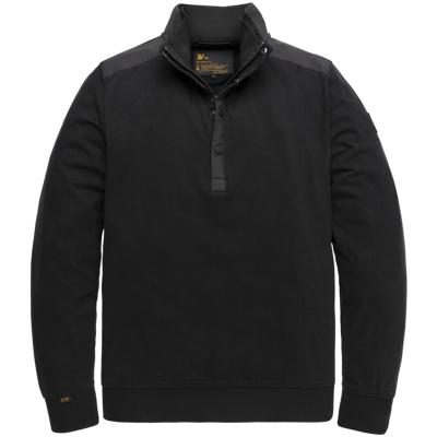 Pme-legend XV half button collar heavy jersey black
