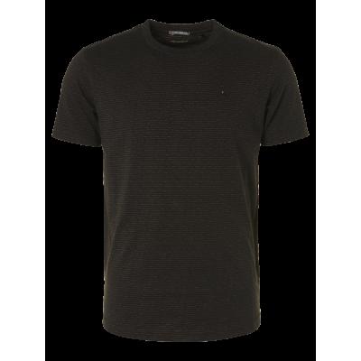 No Excess, t-shirt crewneck 2 coloured jaquard