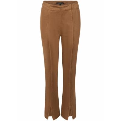Tramontana, trousers suedine flared hazelnut