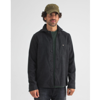 Butcher of Blue, army wool overshirt grey metallic