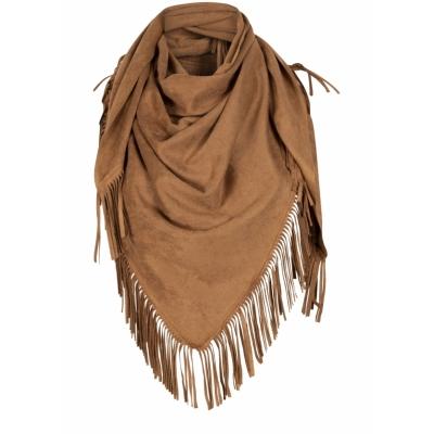 Tramontana, scarf suedine solid hazelnut