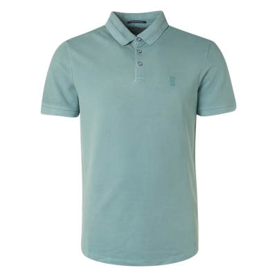 No Excess, polo pique stretch stone washed