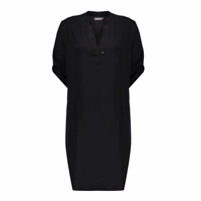 Geisha, dress lyocell solid black
