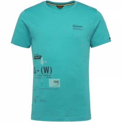 PME Legend, ss r-neck single jersey peacock blue