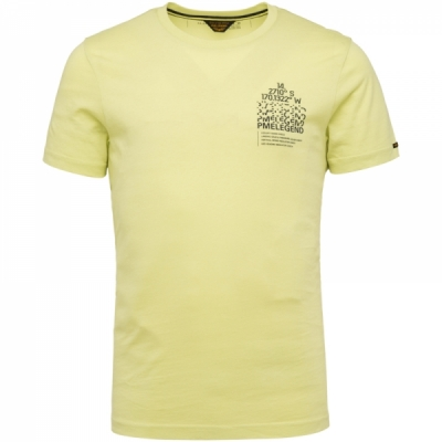 PME Legend, ss r-neck single jersey shadow lime