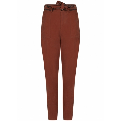 Tramontana, trousers tapered sand washed