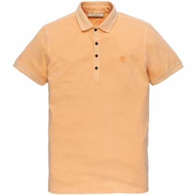 cpss203858-7138 short sleeve polo light pique stretch buff orange