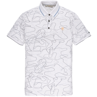 cpss203876-7003 short sleeve polo pique stretch bright white