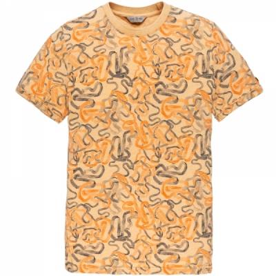 ctss203272-7138 r-neck fine jersey melange buff orange