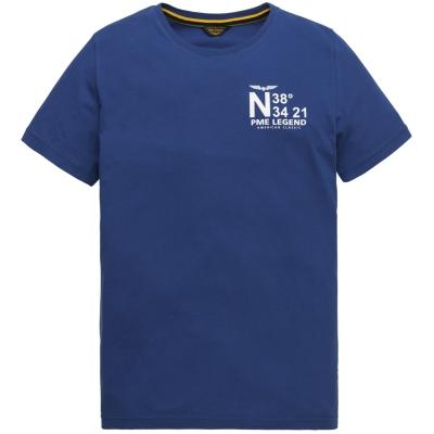 ptss204572-5090 short sleeve r-neck single jersey mazarine blue